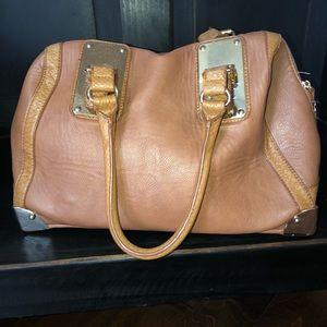 Aldo light brown handbag/beautiful gold buckles